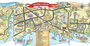 """Antalya'da turistler için """"eğlenceli harita"""""""