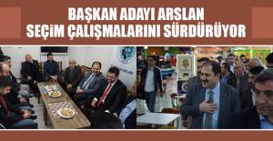 Başkan Adayı Arslan'ın Seçim Çalışmaları