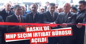 Baskil'de MHP Seçim İrtibat Bürosu Açıldı