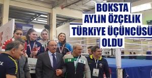 Boksta Aylin Özçelik Türkiye Üçüncüsü Oldu