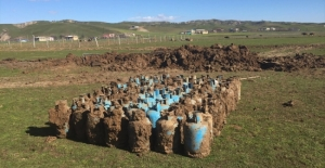 Diyarbakır'da toprağa gömülü 75 tüp imha edildi