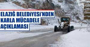 Elazığ Belediyesi Karla Mücadele İle İlgili Açıklama Yaptı