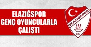 Elazığspor, Genç Oyuncularla Çalıştı