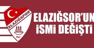 Elazığspor#039;un İsmi Değişti!