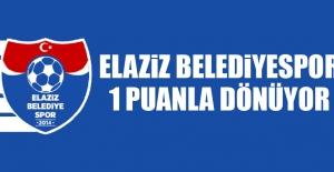 Elaziz Belediyespor 1 Puanla Dönüyor