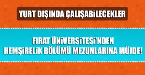 Fırat Üniversitesi'nden hemşirelik bölümü mezunlarına müjde!