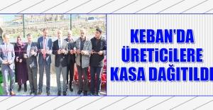 Keban'da Üreticilere Kasa Dağıtıldı