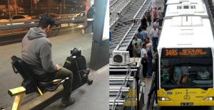 Metrobüs Durağındaki Şarj Bisikleti Görenleri Şaşırttı