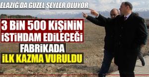 Türkiye'nin En Büyük Fabrikası'nda İlk Kazma Vuruldu