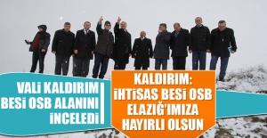 Vali Kaldırım: İhtisas Besi OSB Elazığ'ımıza Hayırlı Olsun