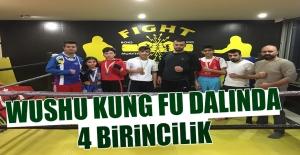 Wushu Kung Fu Dalında 4 Birincilik