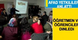 AFAD Yetkilileri Anlattı, Öğretmen ve Öğrenciler Dinledi