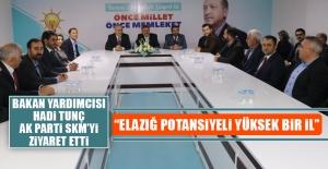 Bakan Yardımcısı Tunç, AK Parti SKM'yi Ziyaret Etti