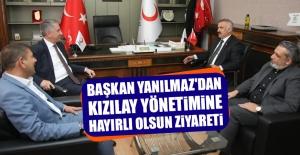 Başkan Yanılmaz'dan Kızılay Yönetimine Hayırlı Olsun Ziyareti