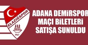 Birevim Elazığspor-Adana Demirspor Maçı Biletleri Satışa Sunuldu