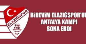 Birevim Elazığspor'un Antalya Kampı Sona Erdi