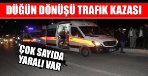 Düğün Dönüşü Trafik Kazası Meydana Geldi! Yaralılar Var