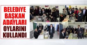 Elazığ Belediye Başkan Adayları Oylarını Kullandılar