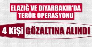Elazığ ve Diyarbakır'da Terör Operasyonu Düzenlendi