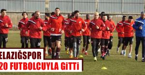 Elazığspor 20 Futbolcuyla Gitti