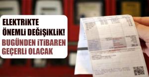 ELEKTRİKTE ÖNEMLİ DEĞİŞİKLİK!