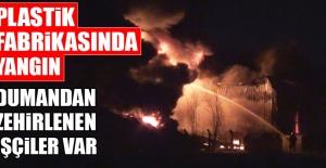 Fabrika Yangınında Dumandan Zehirlenen İşçiler Var