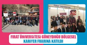 Fırat Üniversitesi Güneydoğu Bölgesel Kariyer Fuarına Katıldı