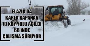 Karla Kapanan 70 Köy Yolu Açıldı, 68'inde Çalışma Sürüyor