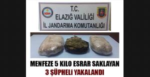 Menfeze 5 Kilo Esrar Saklayan 3 Şüpheli...