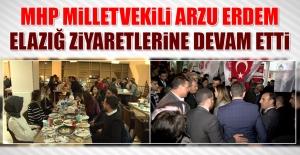 MHP Milletvekili Arzu Erdem Elazığ Ziyaretlerine Devam Etti