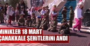 Minikler, 18 Mart Çanakkale Şehitlerini Andı