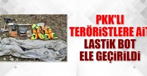 PKK'lı Teröristlere Ait Lastik Bot Ele Geçirildi
