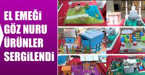 Şehit Burhan Gatfar Ortaokulu öğrencilerinin El Emeği Göz Nuru Ürünleri Sergilendi