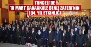 Tunceli'de 18 Mart Çanakkale Deniz Zaferi'nin 104. Yıl Etkinliği
