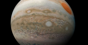 Uzay Aracı Juno'nun Dünya'ya Gönderdiği, Jüpiter'in İhtişamını Sergileyen Fotoğraf
