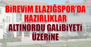 Birevim Elazığspor'da Hazırlıklar Altınordu Galibiyeti Üzerine