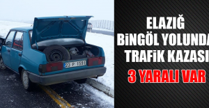 Elazığ-Bingöl Yolunda Kaza: 3 Yaralı
