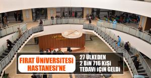 Fırat Üniversitesi Hastanesi'ne 27 Ülkeden 2 Bin 716 Kişi Tedavi İçin Geldi