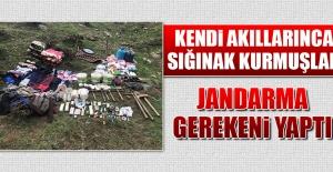 Komşu Şehirde PKK'lı Teröristlere Ait Sığınak İmha Edildi