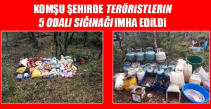 Komşu Şehirde Teröristlerin 5 Odalı Sığınağı İmha Edildi