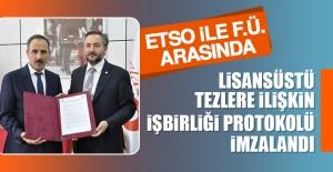 Lisansüstü Tezlere İlişkin İşbirliği Protokolü İmzalandı