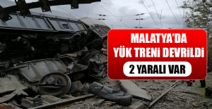Malatya'da Yük Treni Devrildi
