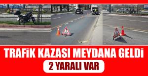 Meydana Gelen Trafik Kazasında 2 Yaralı Var