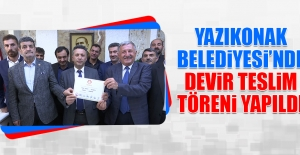 Yazıkonak Belediyesi'nde Devir Teslim Töreni Yapıldı