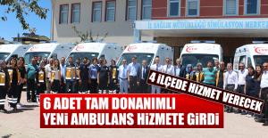6 Adet Tam Donanımlı Yeni Ambulans Hizmete Girdi