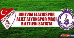 Afjet Afyonspor Maçı Biletleri Satışta