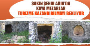 Ağın'da ki Kaya Mezarlar Turizme Kazandırılmayı Bekliyor