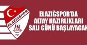 Altay Hazırlıkları Salı Günü Başlayacak