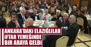 Ankaradaki Elazığlılar İftar...