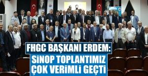 Başkan Erdem: Sinop Toplantımız Çok Verimli Geçti